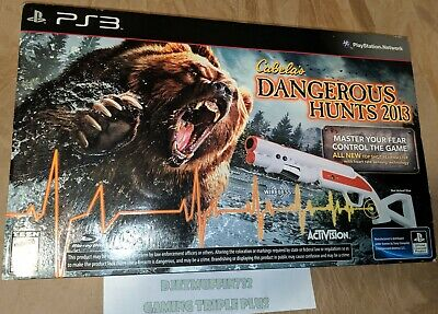 New Cabela's Dangerous Hunts 2013 Playstation Ps3 (Bundle) Fearmaster