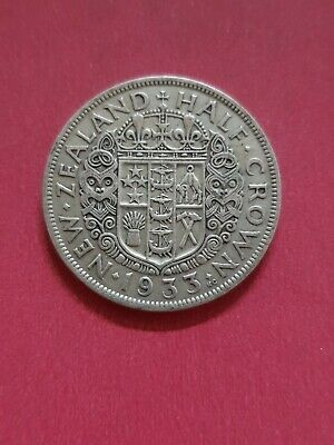New Zealand 1933  Half Crown  500 Silver