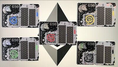 CRYPTO STAMP - SET 5x STAMPS RED, YELLOW, BLUE, GREEN, BLACK ETHEREUM complete
