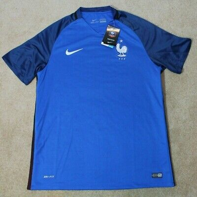 NIKE FRANCE NATIONAL Team Soccer Jersey 2016 2017 Home XL