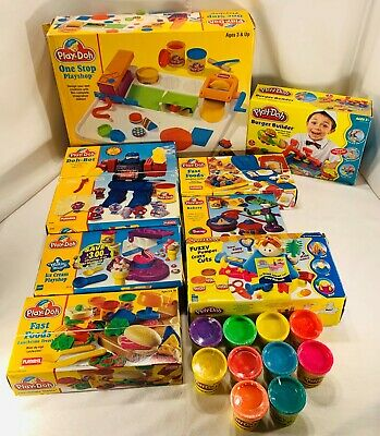 1994-'98 Play-Doh Sets Fast Foods, Burger Builder, Doh-Bot, Crazy Cuts, etc.