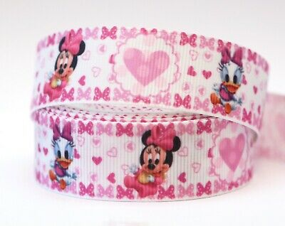 1M X 22mm Grosgrain Ribbon Craft DIY Decorations Hair Bows Baby Minnie Mouse