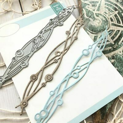 Wave Strip Cutting Dies Stencil DIY Scrapbooking Embossing Paper Card Crafts art