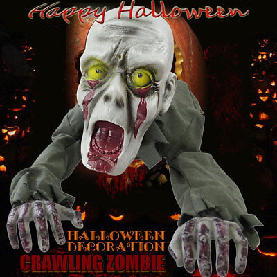 43'' Halloween Scary Crawling Zombie Skeleton Animated Haunted Props Decoration