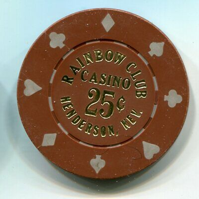 Fractional Chip 25¢ Rainbow Club Casino Henderson NV