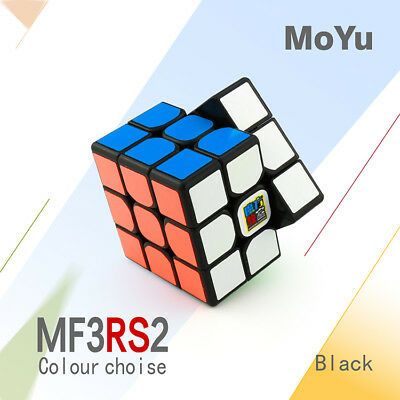 Moyu 3x3x3 MF3RS2 Speed Magic Cube Pro Smooth StickerTwist Puzzle Toys Black