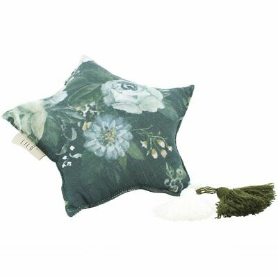 NEW CHILDRENS Muslin Star Pillow Small - Dark Peonies