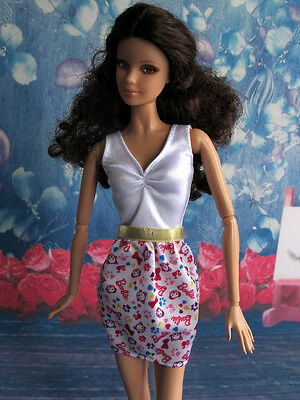 BARBIE Doll  V Neck Casual Dress Clothes Outfit Fashion
