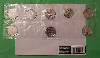 2012 Canada Tecumseh 25 Cents10-Pack Set With Mint's Envelope