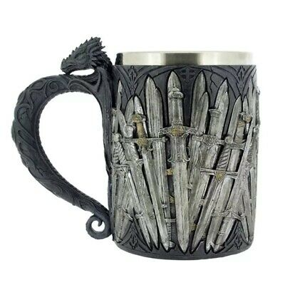 Game of Thrones Dragon Iron Sword Coffee Mugs Stainless Steel Resin Mark Cups