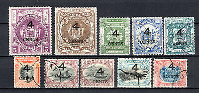 MALAYA 1899 STRAITS SETTLEMENTS NORTH BORNEO O/P 4c SELECTION TO $10 USE STAMPS