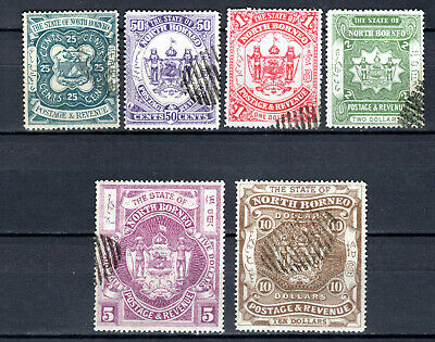 Malaya 1894 Straits Settlements North Borneo Complete Set Of Use Stamps