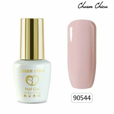 CHARM CHICA 6ml Nude Color Gel Nail Polish Soak Off Nail Art DIY Manicure #90544