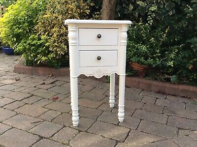 Shabby Chique Painted French Style Bedside Lamp Table
