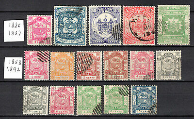 Malaya 1886-1892 Straits Settlements North Borneo Selection Of Used Stamps