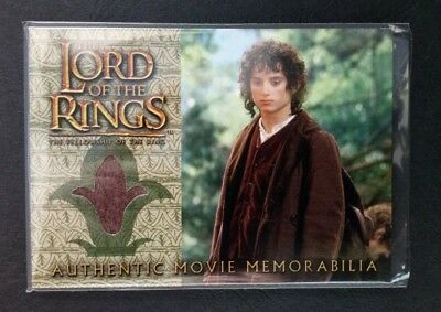 "LOTR ""Frodo's Travel Jacket"" (Elijah Wood) Pieceworks Trading Card By Topps 2002"