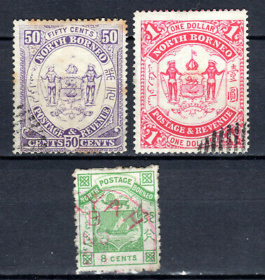 Malaya 1883-1886 Straits Settlements North Borneo Selection Of Used Stamps