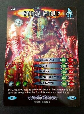"""Dr Who Battles In Time """"Zygon Group"""" #750 Super Rare Holofoil Ultimate Monsters"""