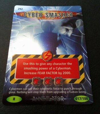 """Dr Who Battles In Time """"Cyber Smasher"""" #292 Rare Holofoil Annihilator Card"""