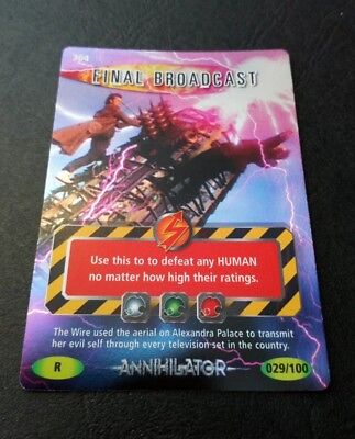 """Dr Who Battles In Time """"Final Broadcast"""" #304 Rare Holofoil Annihilator Card"""