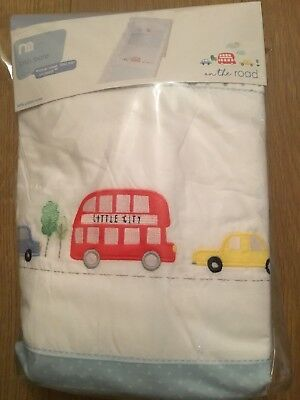 Mothercare On The Road Crib Bale Bumper, Coverlet And Fitted Sheet ** Bnip **