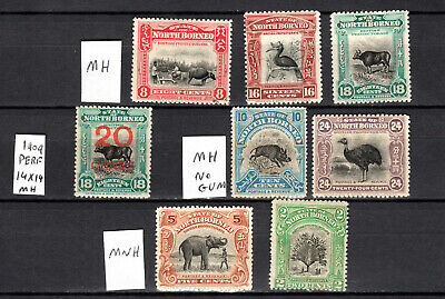 Malaya 1909 Straits Settlements North Borneo Selection Of Mnh & Mh Stamps