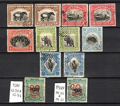 Malaya 1909 Straits Settlements North Borneo Selection Of Used Stamps