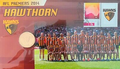 Afl 2014 $1 Coin Premiers Hawthorn Pnc Limited Edition Of 5,000 # 2 Aussie Rules