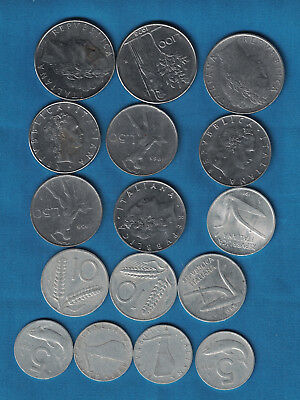 Assortment of 16 Italy Coins