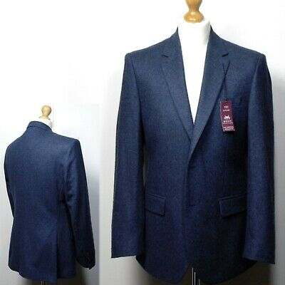 rrp £49.50 M/&S Cotton Rich SINGLE BREASTED Tailored BLAZER ~ Var Sizes ~ NAVY
