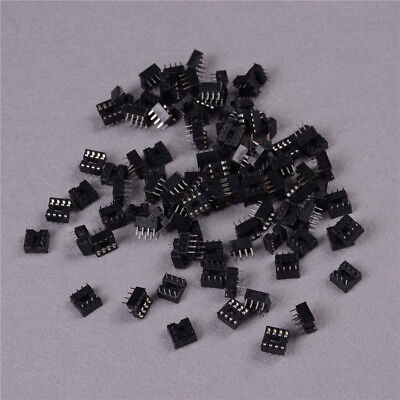 100PCS 8 Pin DIP Pitch Integrated Circuit IC Sockets Adaptor Solder Type rs