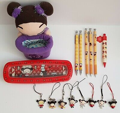 12x Lots Vintage Pucca, Pencil Case, Mechanical Pencil, Charms, Phone Holder.