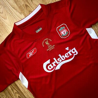 S-Xl 2004/05 Liverpool Cl Home Shirt Custom Printing Available