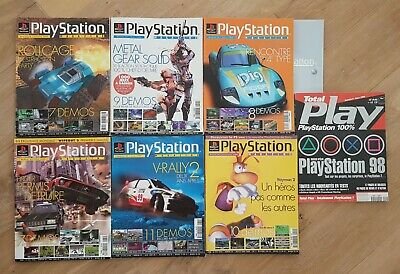 PlayStation Magazine Lot 7 - Numéro 28 29 30 31 32 44 Total Play - 1999 2000