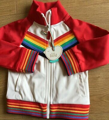 Little Bird By Jools Oliver Boys Red Rainbow Age 18-24 Mths Zip Up Jacket Bnwt