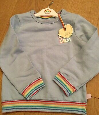 🍄 Little Bird Jools Oliver Unisex Rainbow Sweatshirt Age 6-7 Years 🌈🍄