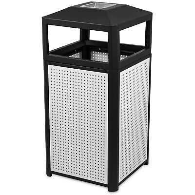 """38 Gallon Outdoor Trash Can With Ash Urn Easy To Clean Indoor 21"""" x 21"""" x 39.2"""""""
