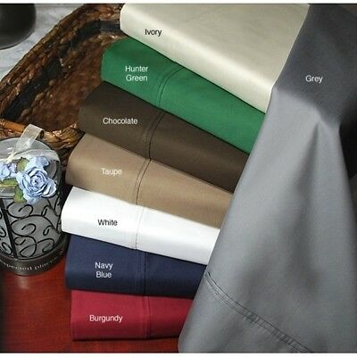 Royal 1 PC Fitted Sheet 1000 TC Egyptian Cotton AU Super King Size Solid Colors