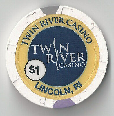$1 Rhode Island 1St Edt Twin Rivers Casino Chip Lincoln Poker Craps