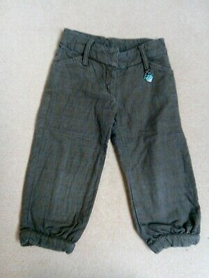 Girls Dior Cropped Check Trousers 6 years