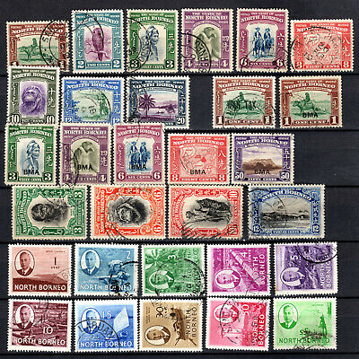 Malaya 1931-1950 Straits Settlements North Borneo Selection Of Used Stamps