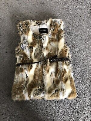 Gorgeous Girls Fur Gilet Age 10yrs From River Island - Hardly Worn