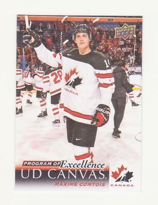 2018-19 UD Series 2 Maxime Comtois Program Of Excellence Canvas # C262 (18-19)