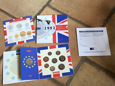 A 1992 United Kingdom Brilliant Uncirculated Coin Collection Inc EEC 1992-3 50p