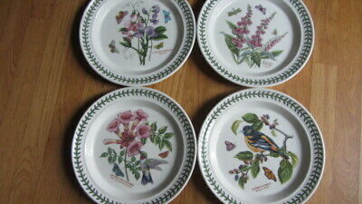 4NEW Portmeirion Botanic Garden Birds Dinner Plates from England