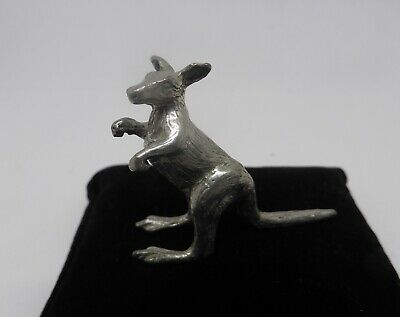 White Metal Miniature of a Kangaroo