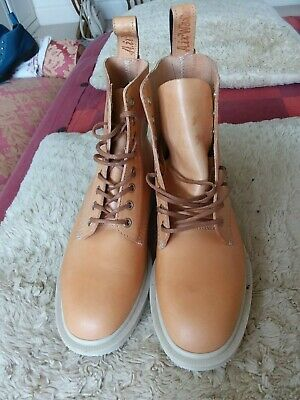 Dr Martens Brand New Made In England Tan Butterscoth Tuscon Boots Uk 6