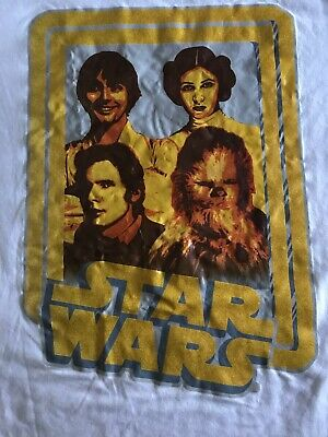 Classic Star Wars T Shirt Med Luke Skywalker Princess Leia Han Solo Chewbacca