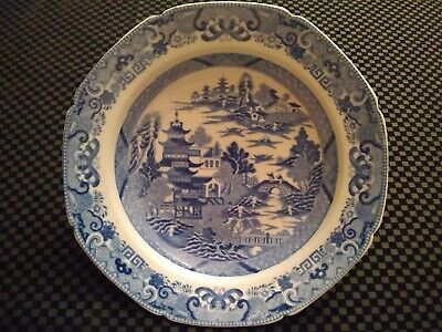 Very old Antique Japanese Pagoda Bowl / Plate - *162*