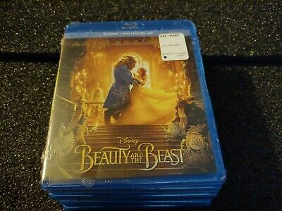 Beauty and the Beast (Blu-ray+DVD+Digital, 2017) NEW - Live Action Disney